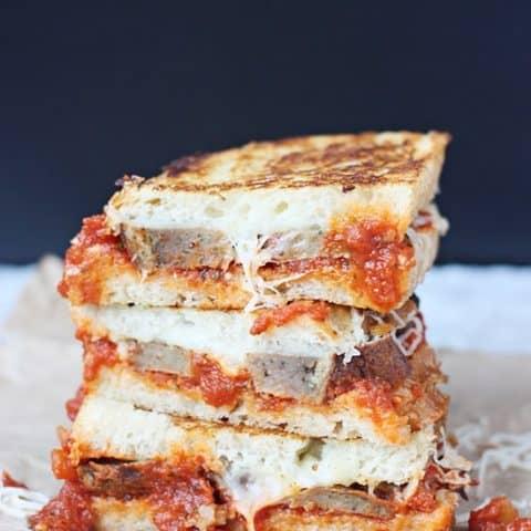 Meatball Marinara Grilled Cheese Sandwich