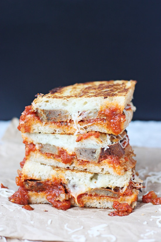 Meatball Marinara Grilled Sandwich