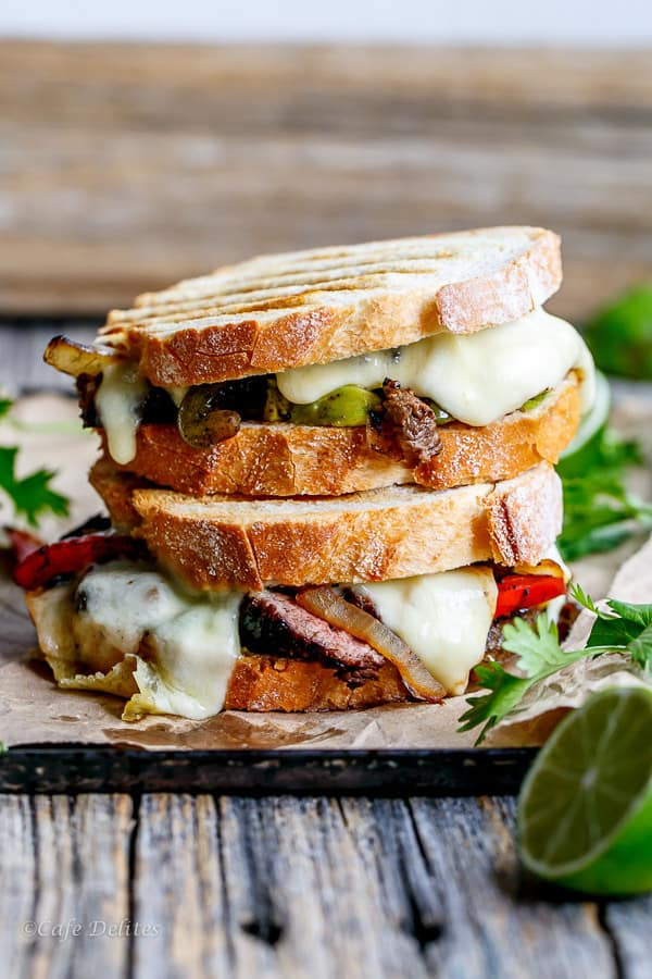 Steak fajita grilled cheese from Cafe Delites