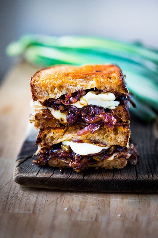 French onion grilled cheese sandwich from Feasting at Home