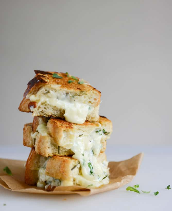 White pizza grilled cheese from How Sweet It Is