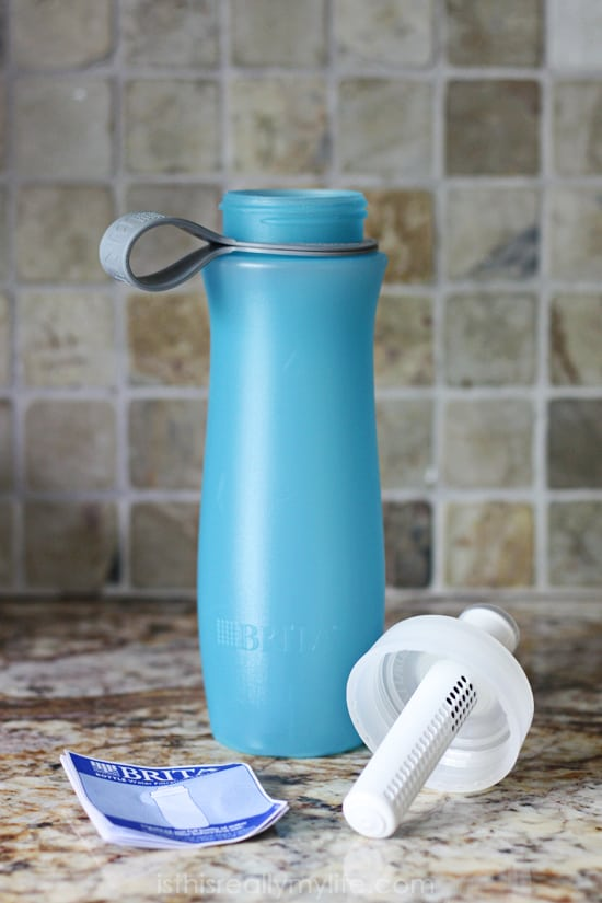 Brita Soft Squeeze Water Filter Bottle -- awesome for filtered water on the go!