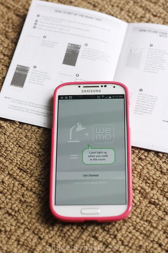 Holmes Smart Air Purifier WeMo App 1