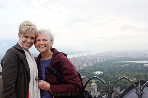 Mom and I in NYC