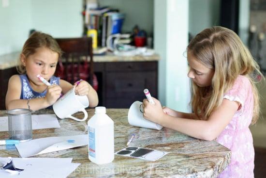 Sharpie mugs with kids