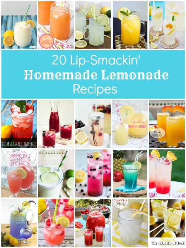 20 Lip-Smackin Homemade Lemonade Recipes