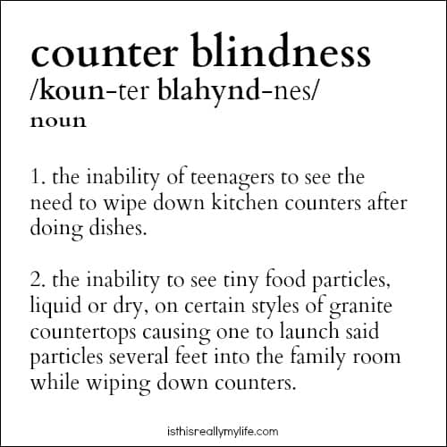 Counter Blindness - it is a real thing.