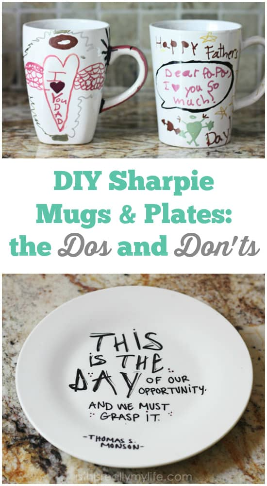 DIY Sharpie Mugs & Plates Dos and Donts