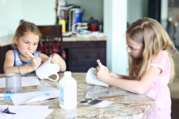 DIY Sharpie Mugs and Plates