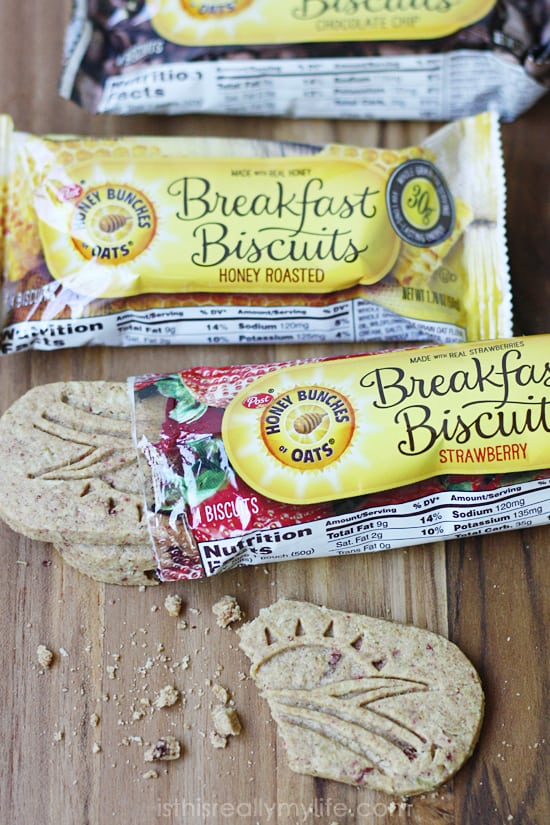 Honey Bunches of Oats Breakfast Biscuits -- great for on-the-go breakfast or snacking.