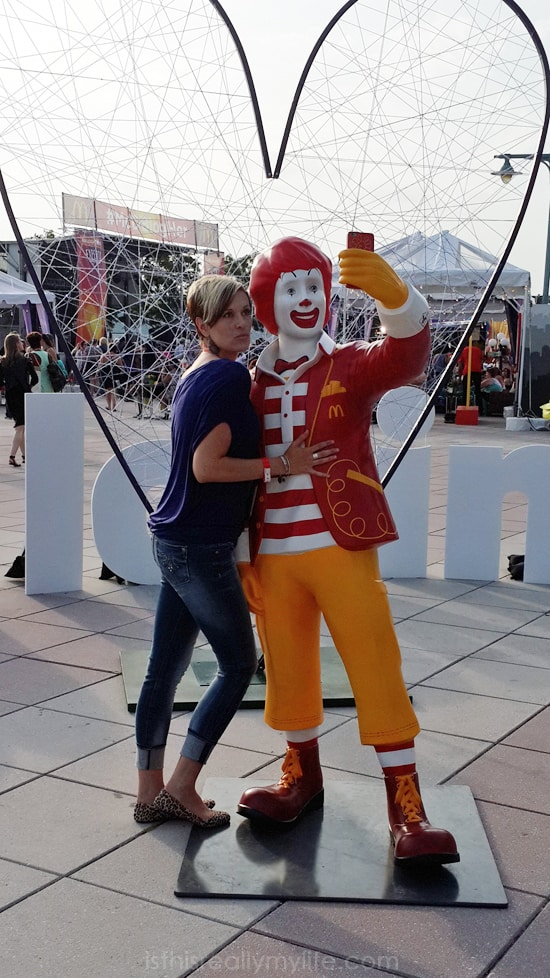 BlogHer McDonalds Closing Party - Selfie with Ronald McDonald