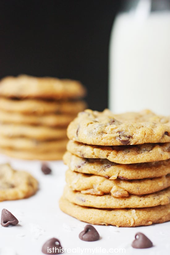 Butterscotch Coconut Chocolate Chip Pudding Cookies