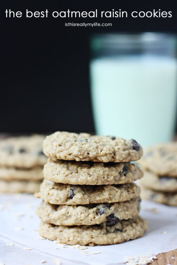 Amazing Oatmeal Raisin Cookies - the best oatmeal raisin cookies you will ever bake!