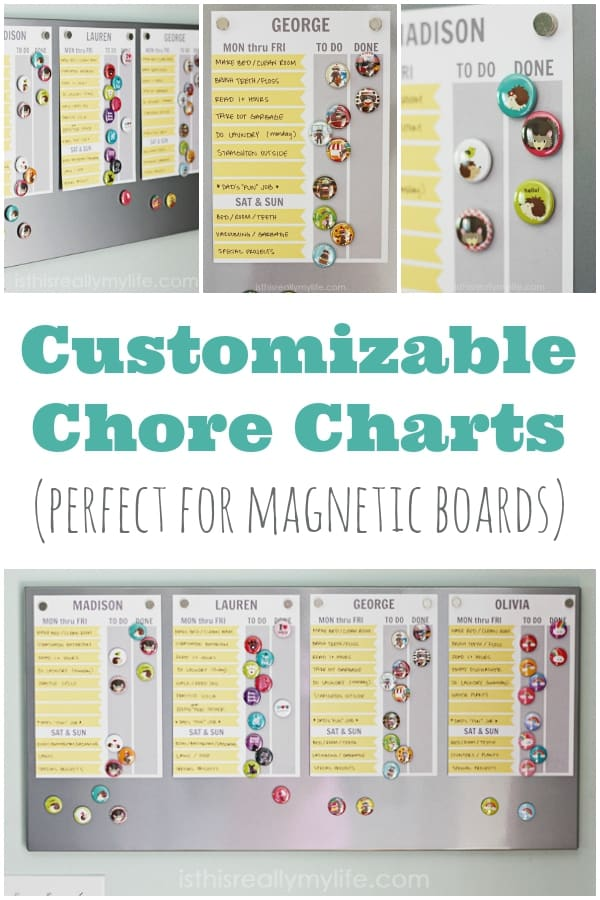 Free Printable Chore Chart Customizable Too Half Scratched