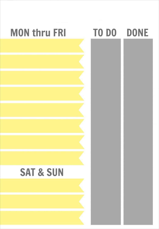 Job Chart Template 7 x 9