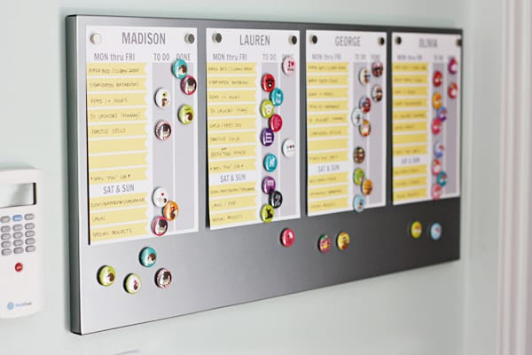 Customizable Chore Charts Perfect for Magnetic Boards | halfscratched.com