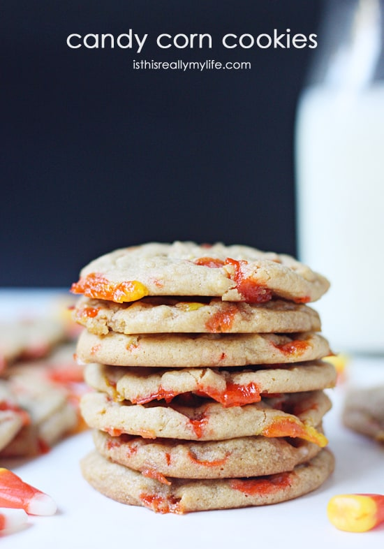 Candy Corn Cookies -- these cookies may not look pretty but they are absolutely delicious!