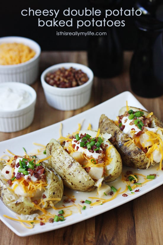 Cheesy Double Potato Baked Potatoes
