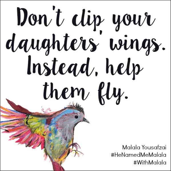 Help Them Fly - Malala Yousafzai quote