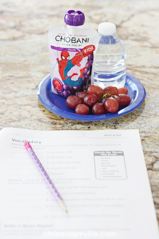 Mini Snack Station with Healthy After-School Snacks - what a great idea for easing the transition from school to homework!