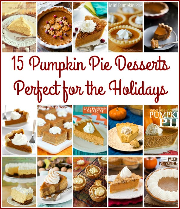 15 Pumpkin Pie Desserts Perfect for the Holidays