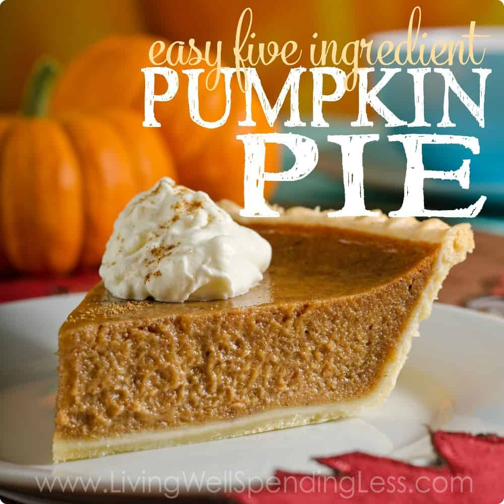 Easy 5-ingredient pumpkin pie