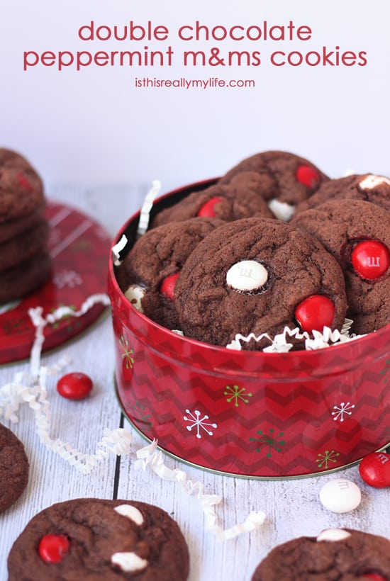 Double Chocolate Peppermint M Ms Cookies