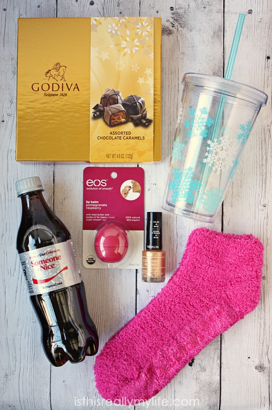 GODIVA holiday survival kit -- simple to assemble with all the necessities for surviving the holiday insanity. Perfect holiday gift for BFFs.