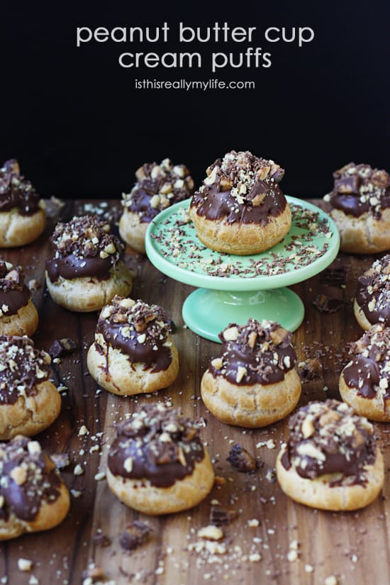 Peanut Butter Cup Cream Puffs -- they look gourmet but were made by a beginner. Recipe plus link to step by step tutorial.
