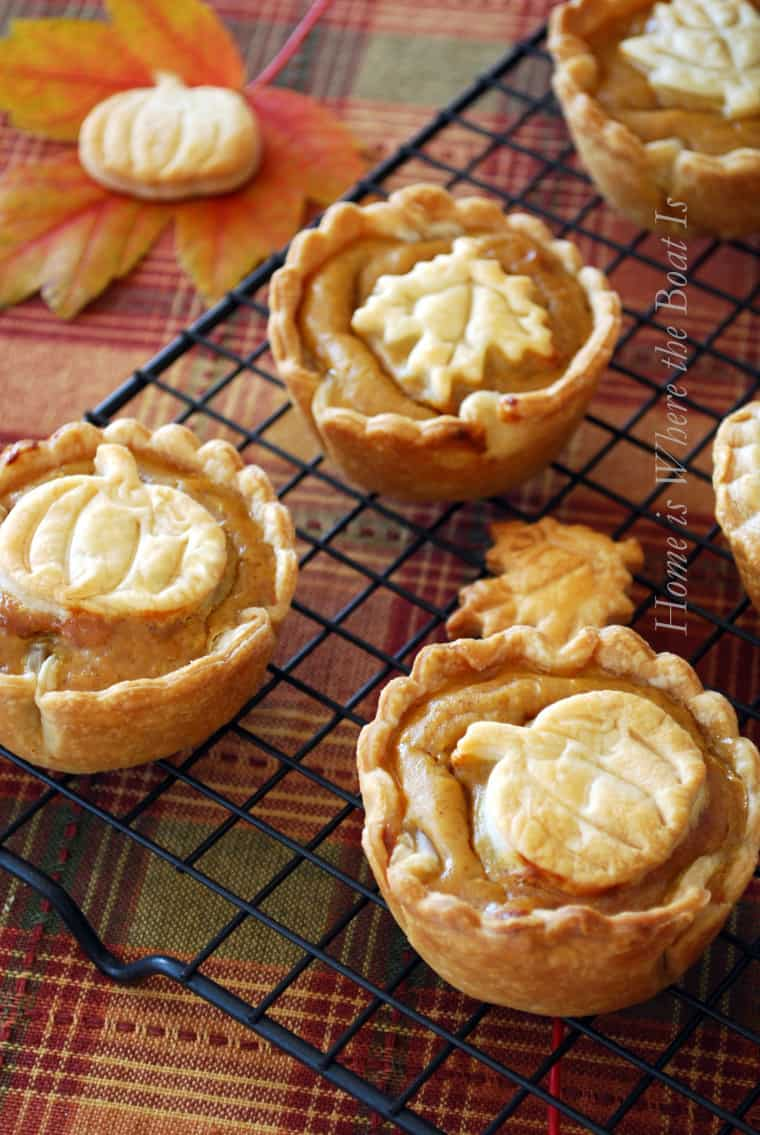 Mini pumpkin pie desserts