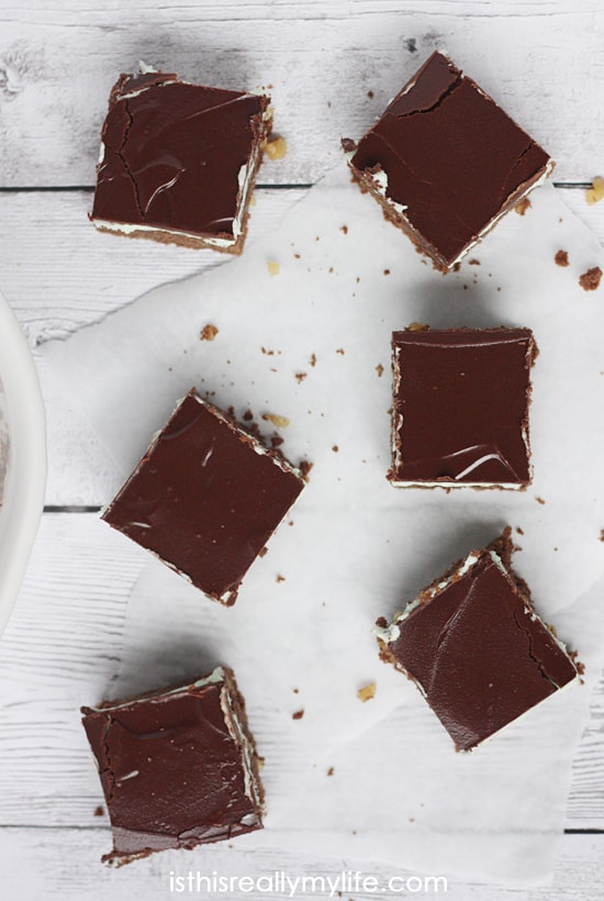 Lower Calorie BYU Mint Brownies with Chocolate Ganache - substitute Splenda granulated no calorie sweetener for the sugar and you save 1,200 calories! Substituting is optional as are the walnuts. They are yummy either way!
