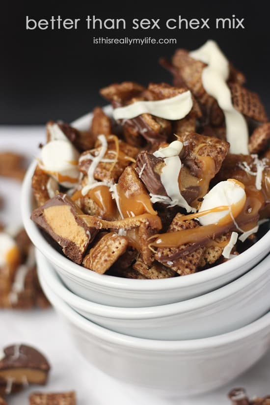 Better Than Sex Chex Mix -- because sometimes this is what you REALLY want.