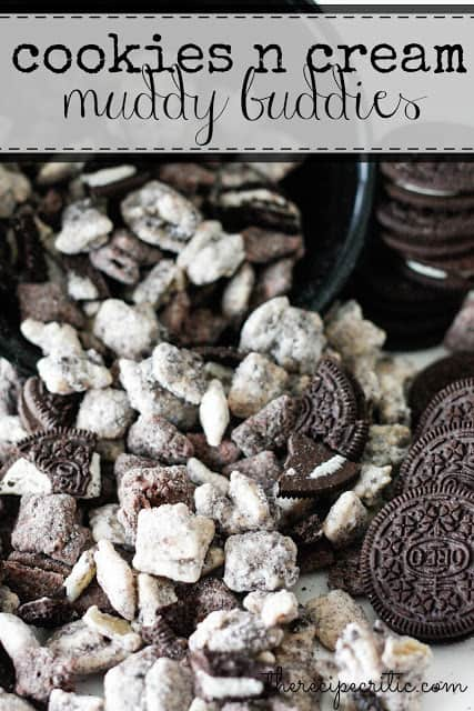 Cookies and cream muddy buddies recipe