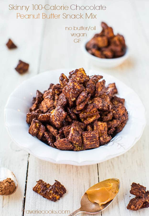 Skinny 100-calorie chocolate peanut butter Chex mix