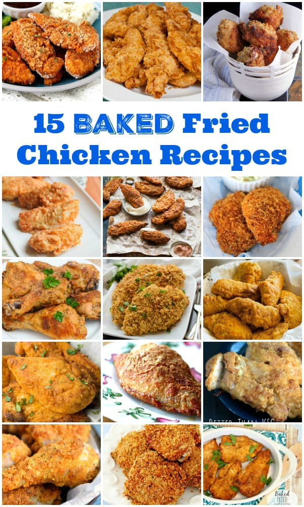 15 Baked Fried Chicken Recipes -- you will never guess this fried chicken is actually baked!