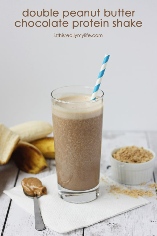 Double Peanut Butter Chocolate Protein Shake