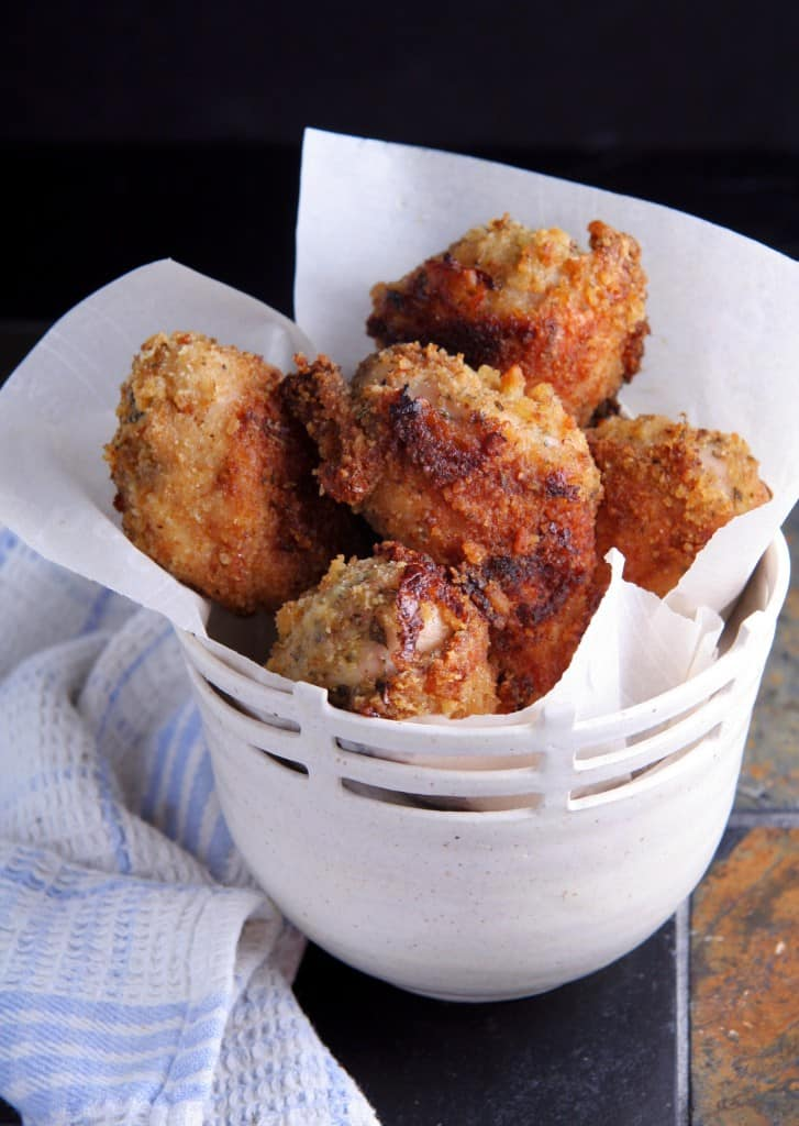 No fry Italian fried chicken