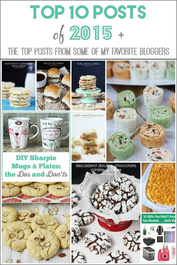 Top 10 Posts of 2015 -- I love that not all of them are recipes but I also love that half of them are desserts. And you all love salted caramel bars as much as I do!