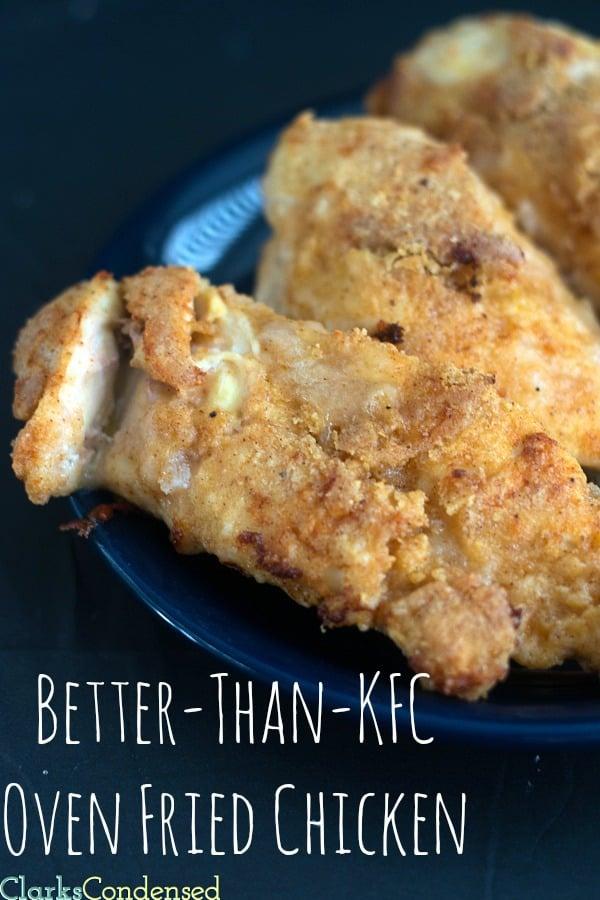 better than KFC oven fried chicken