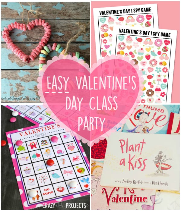 Easy Valentines Day Class Party -- 5 simple stations and very little prep work!