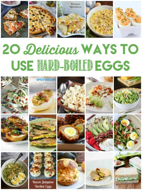 20 Delicious Ways to Use Hard-Boiled Eggs -- think outside deviled eggs, egg salad and plain old hard-boiled eggs with salt.