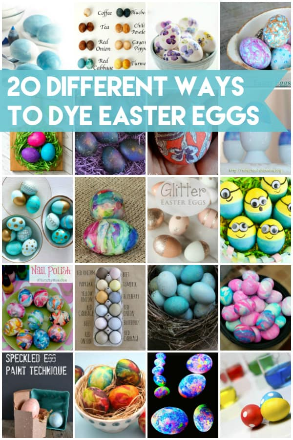 20 Different Ways to Dye Easter Eggs -- from Kool-Aid to shaving cream and everything in between. My favorite are those dang cute Minions!