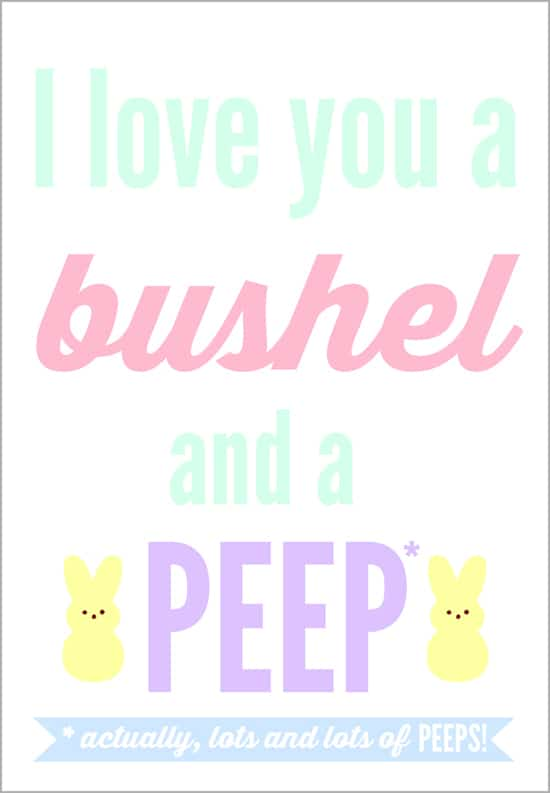 Free peeps printable easter gift tag half scratched bushel and a peep free easter printable gift tag quickly and easily turn a negle Image collections