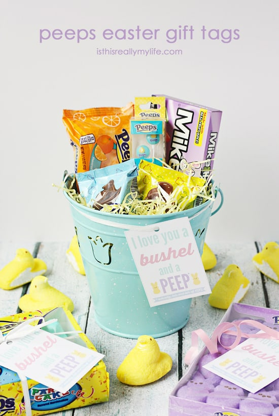image regarding Free Printable Easter Gift Tags referred to as Absolutely free PEEPS® Printable Easter Reward Tag Fifty percent-Scratched