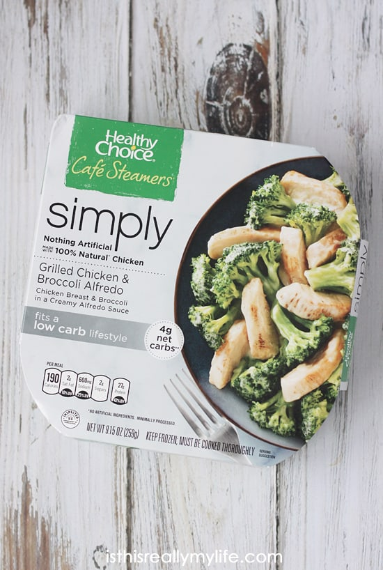 Healthy Choice Simply Cafe Steamers -- quite possibly the best tasting frozen meal option that is also healthy, lower calorie and packed with protein. I am sold!