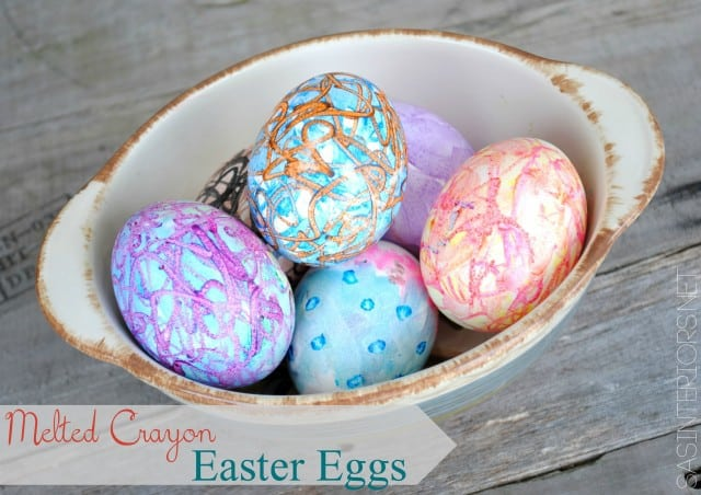 Melted crayons Easter eggs