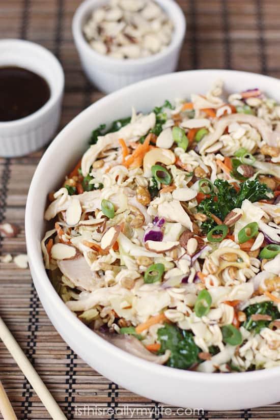 The Best Asian Ramen Chicken Salad EVER