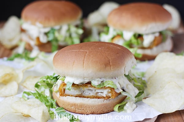 Weeknight Fish Fillet Sandwiches with Homemade Tartar Sauce -- an easy weeknight meal with a tartar sauce so good you may lick the spoon!