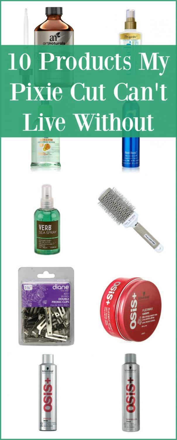 10 Products My Pixie Cut Cant Live Without -- I have had one variation or another of a pixie cut for over 16 years. These are my absolute favorite products--and yes, I use all of them.
