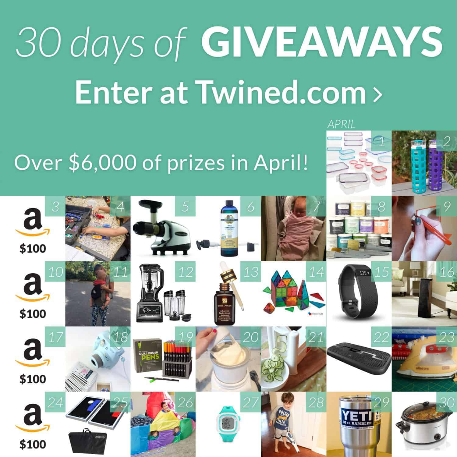 30 Days of Giveaways by Twined